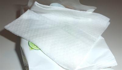 Mit Feuchttüchern unterwegs Fettflecken entfernen
